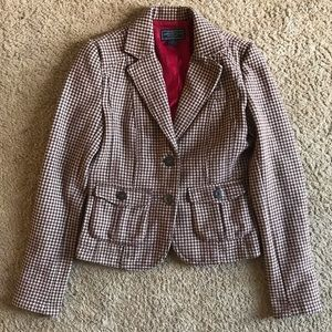 American Eagle Houndstooth Blazer Jacket